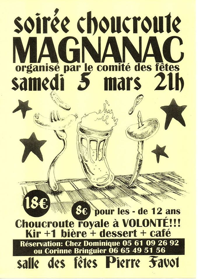 MAGNANAC - SOIREE CHOUCROUTE