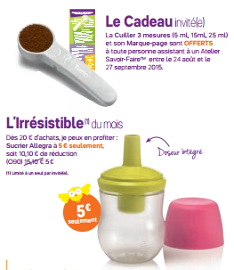 Promos septembre tupperware