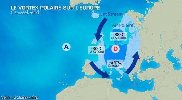 Un vortex polaire se dirige vers la France