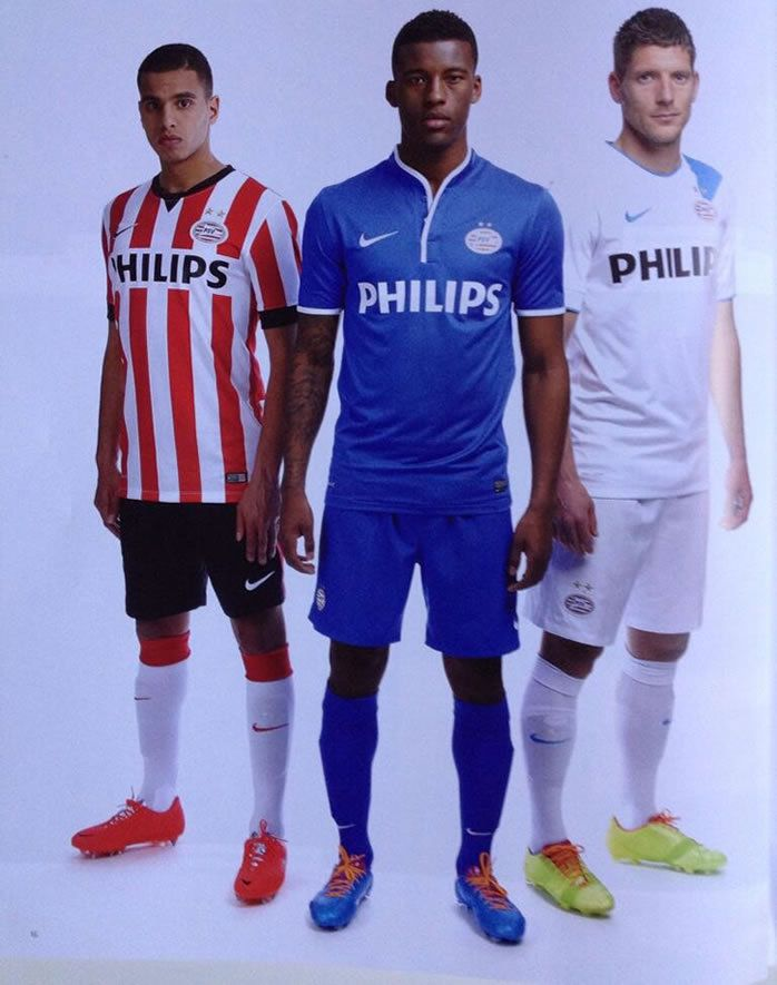 reputable site bfd48 9f493 New PSV Eindhoven 14-15 home and away kit - Ronaldo.over ...