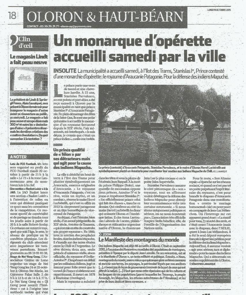 """""""Sud-Ouest"""", lundi 19 octobre 2015, p. 18"""