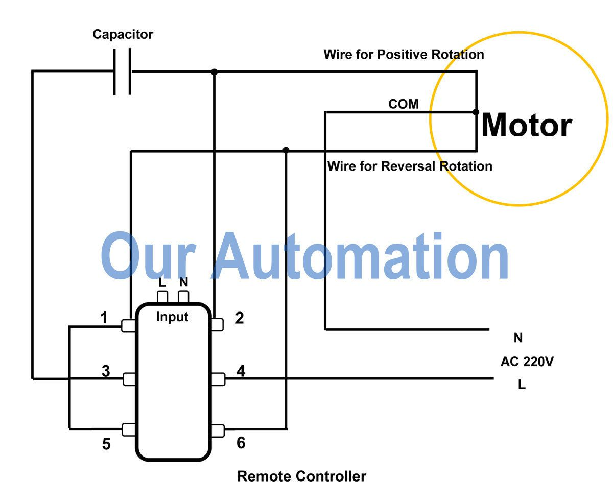 how to control ac motor by dpdt switch and remote controller our rh our automation over blog com