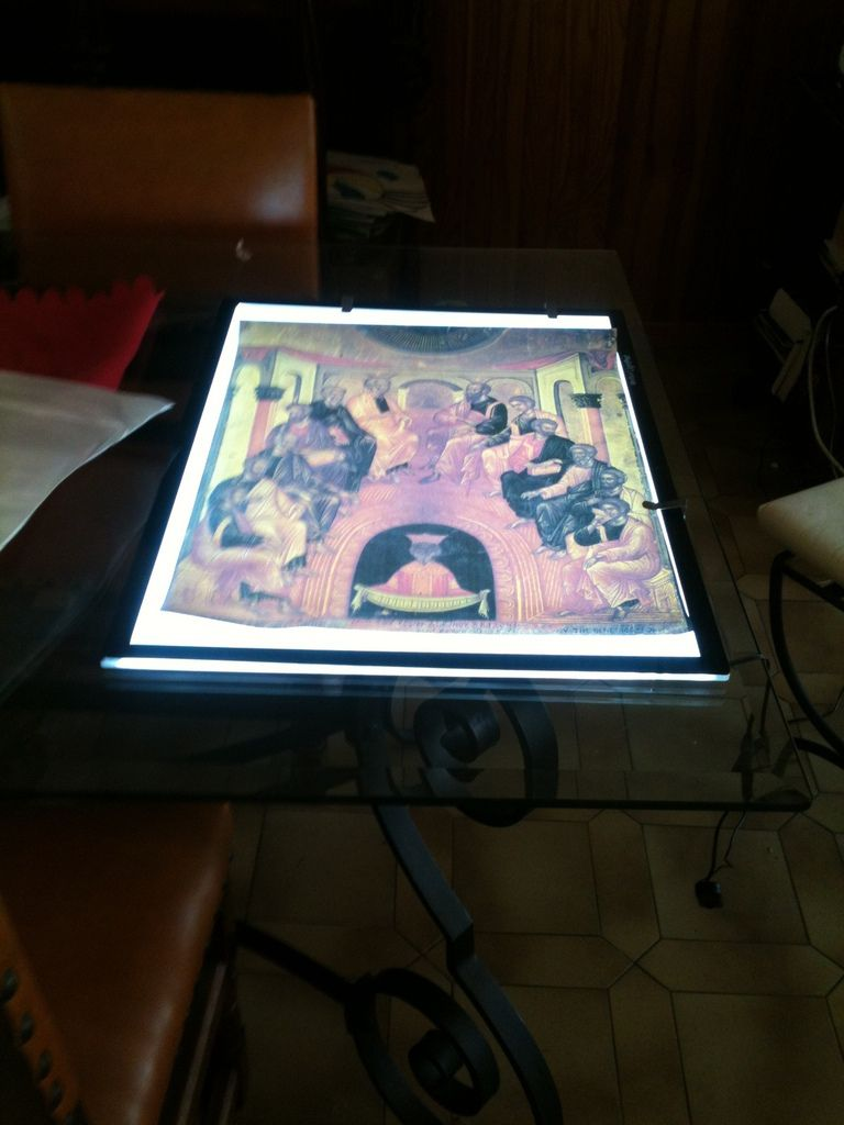 TABLE LUMINEUSE POUR CREATION ICONE FORMAT A 2