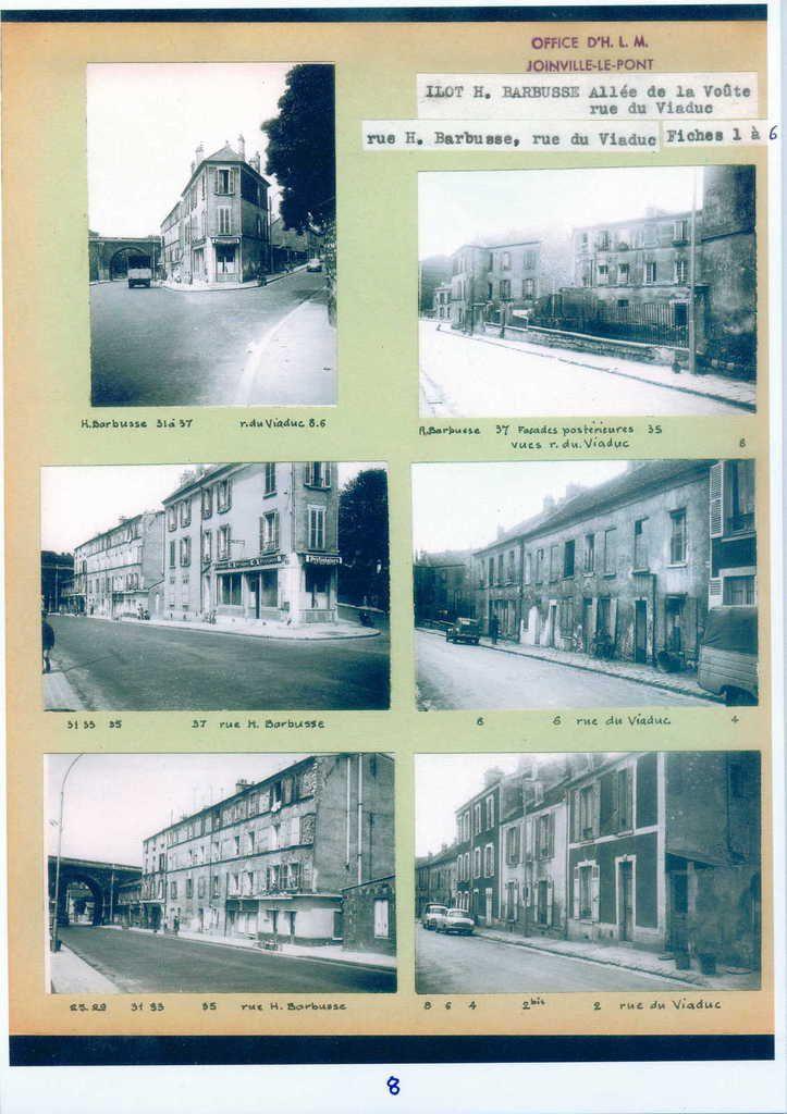 Joinville le Pont. Rue Henri Barbusse. Chemin creux. Rue du Viaduc. Années 50-60 Source: ©  Archives de Joinville Le Pont Habitat-DR