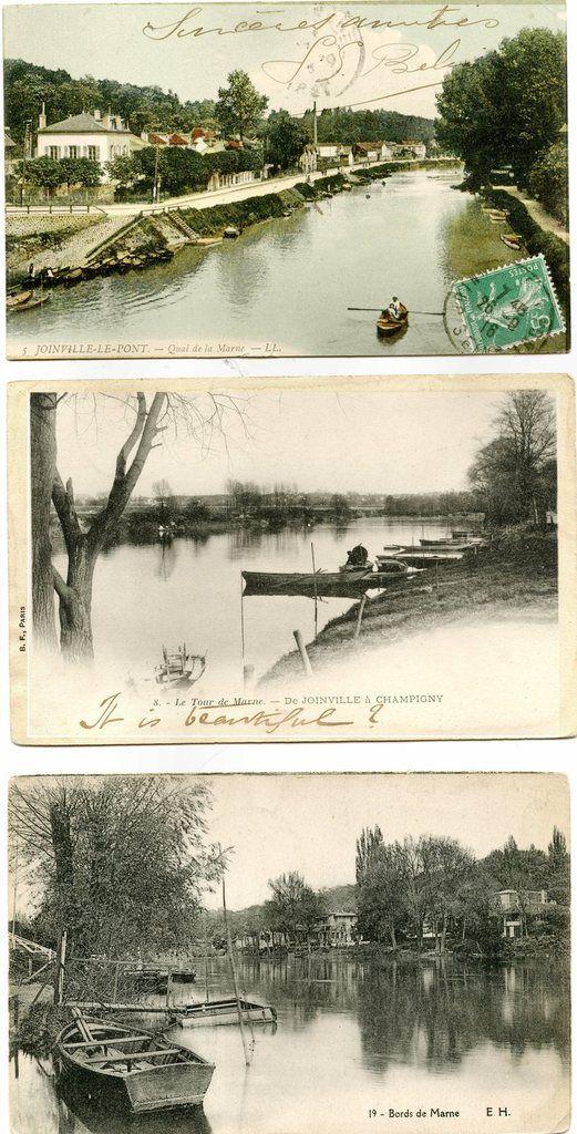 Joinville le pont.  Début XX ème siècle. Collection Jean-Claude Baquiast- DR