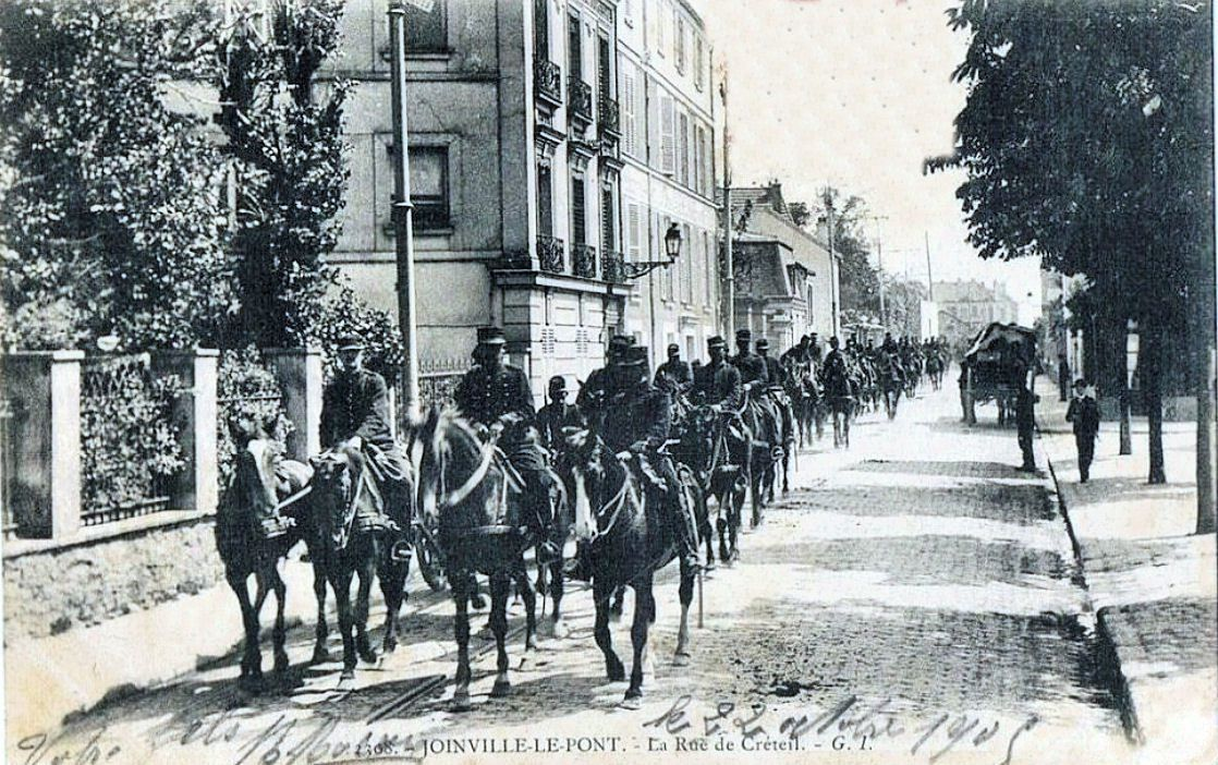 Boulevard du Maréchal Leclerc ( à l'époque Rue de Créteil) au début du XX ème siècle-- Joinville le pont - Collection Jean-Claude Baquiast - DR