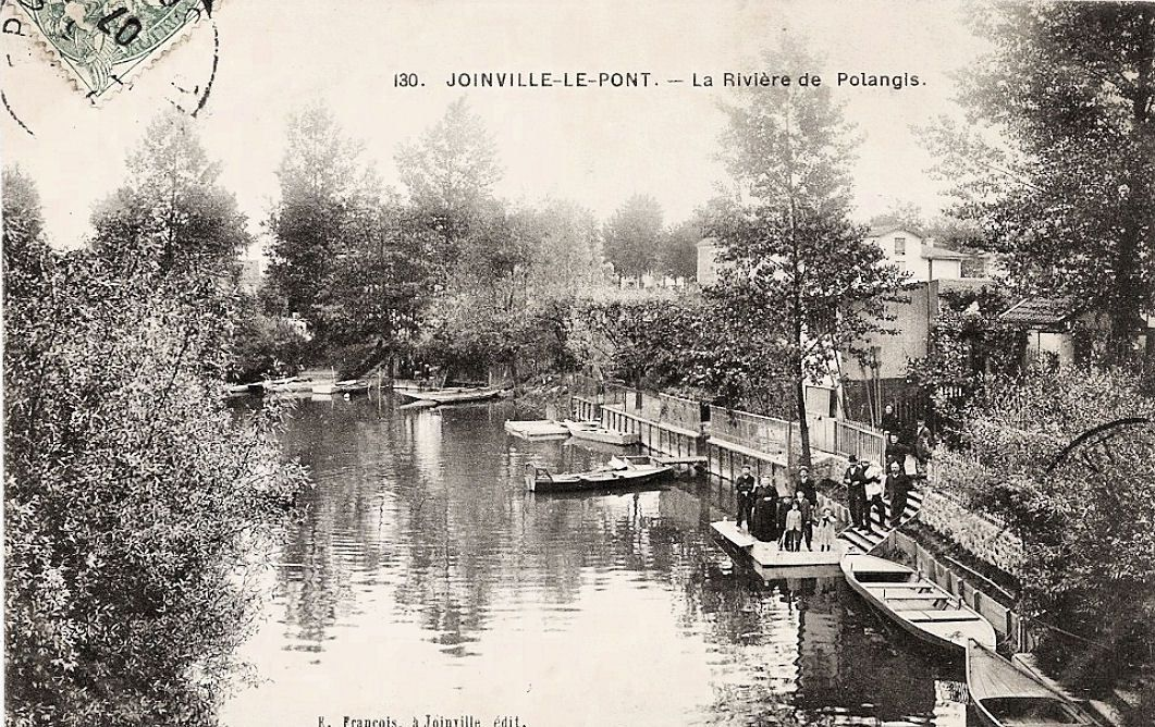 Bords de Marne ( bras mort )  à la Belle Epoque - Joinville le pont au début du XX ème siécle - Collection Jean-Claude Baquiast - DR