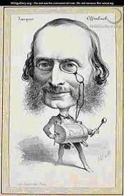 Caricature de Jacques Offenbach (source Anao)