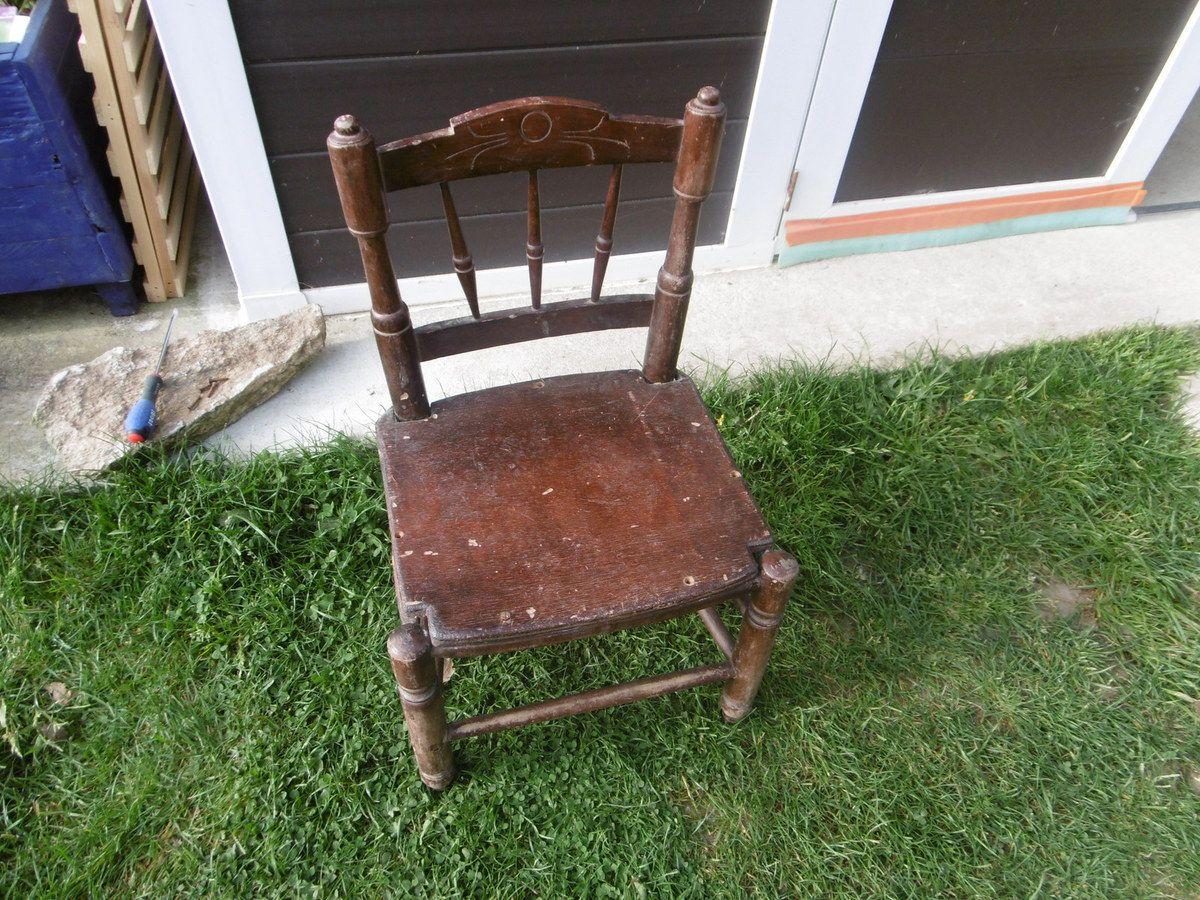 relooking d'une chaise enfant