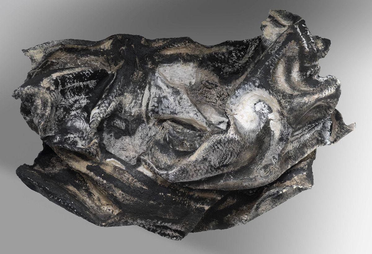 Sulamite III - cycle des origines - acryl et charges minérales et métalliques sur papiers mixtes - 2016