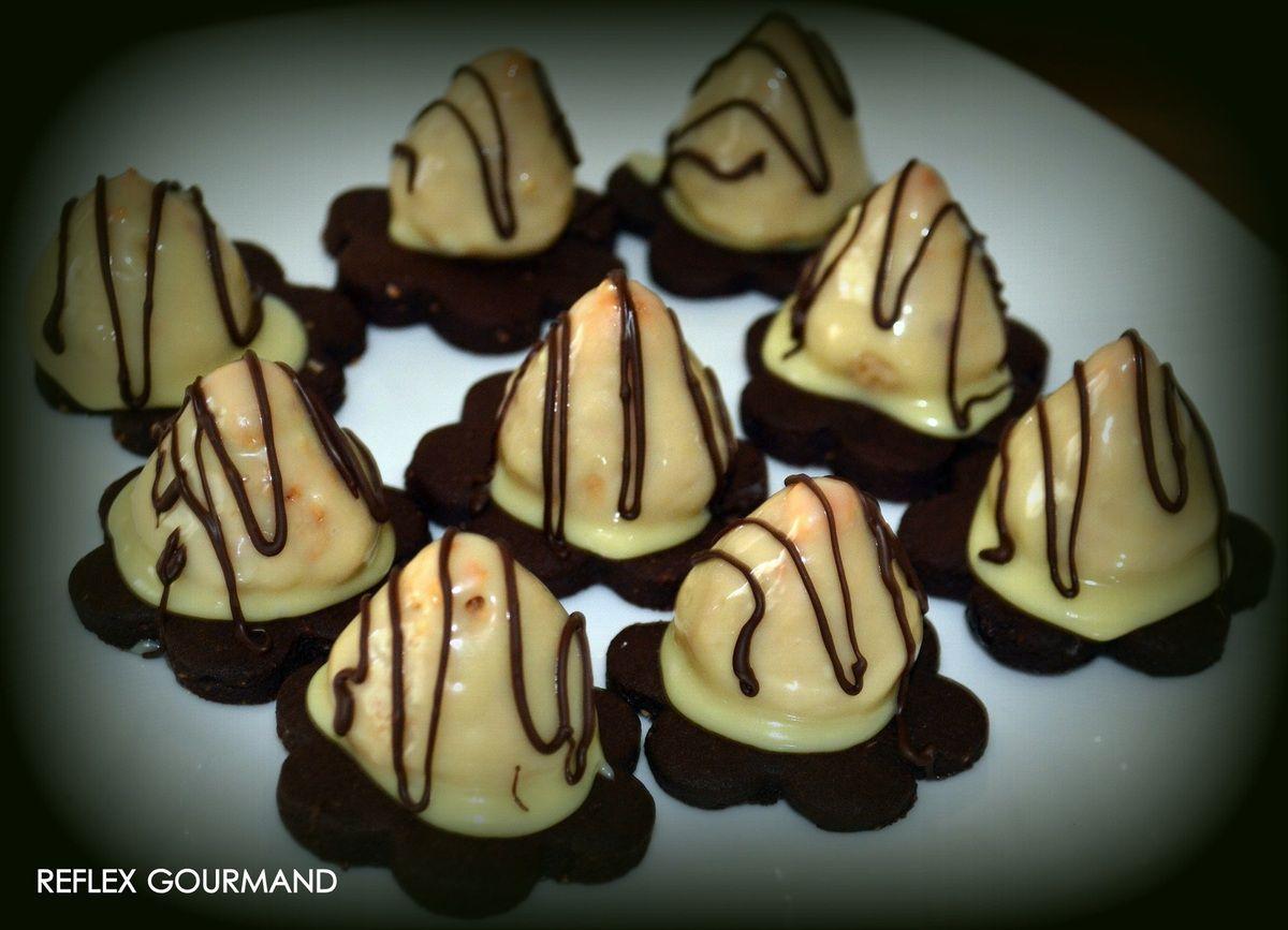 Sablés gourmands au chocolat et cacahuètes