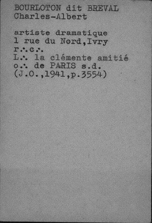 "Extrait du Fichier ""Bossu"" de la BNF"