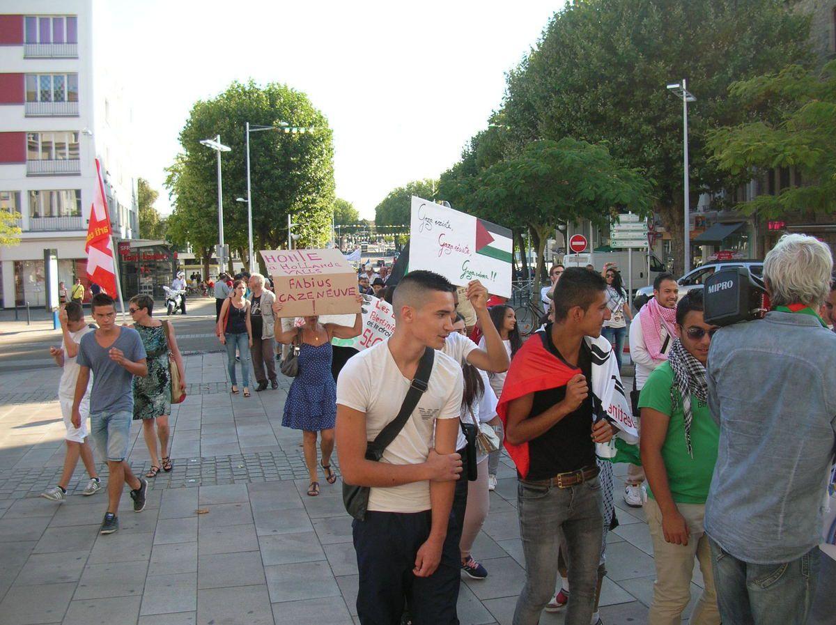 Serrurier Lorient avec lorient: manifestation de soutien à la palestine hier soir. - le