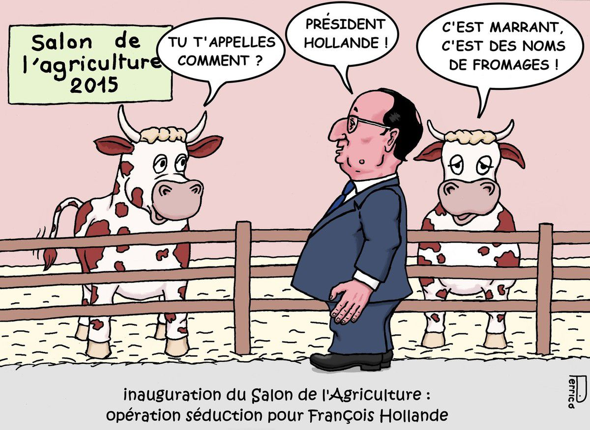 fran ois hollande au salon de l 39 agriculture 2015 le blog. Black Bedroom Furniture Sets. Home Design Ideas