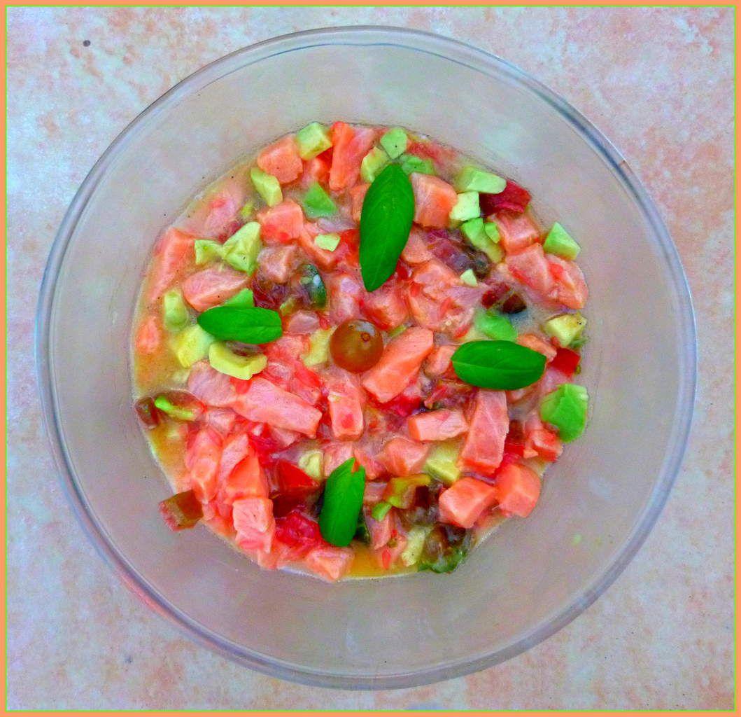 Tartare de saumon &quot&#x3B;à ma façon&quot&#x3B; (avec mes petits secrets !)