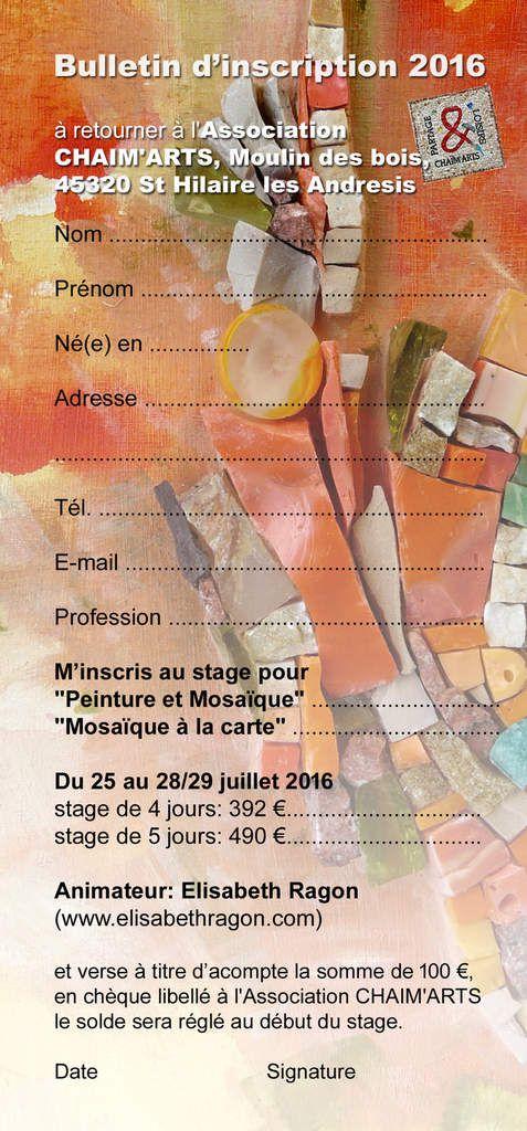 Mosa-paint le retour : un stage en 2016 !