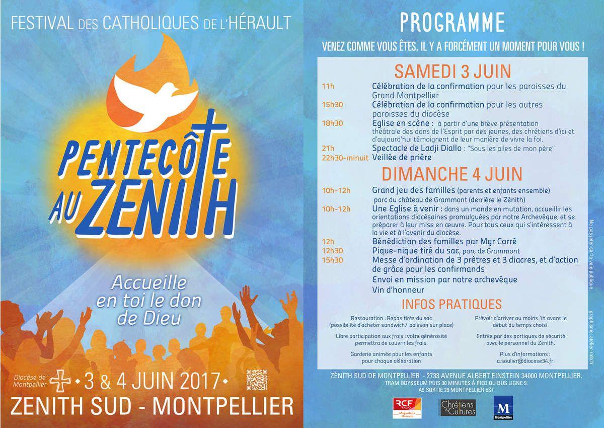 Pentecôte Zénith le 3 et 4 juin 2017