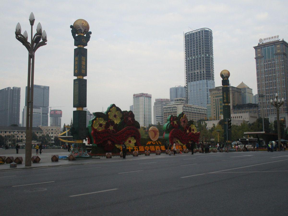 a Chengdu, en ville ...