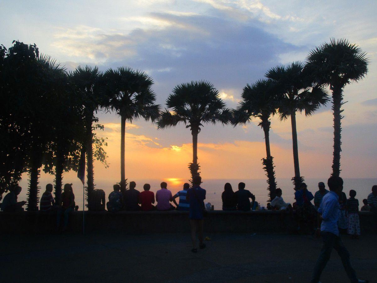 au point de vue pour le coucher de soleil