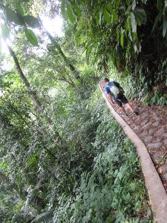 En route vers une deuxième waterfall dans le même parc