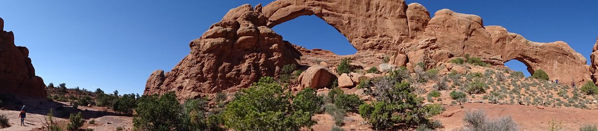 Trail autour de Windows arches- parc national des arches-Utah