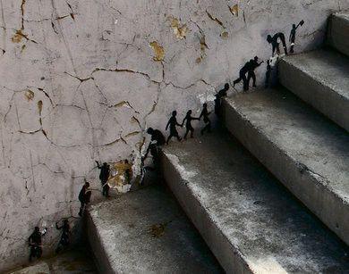 à escalader le mur de la vie