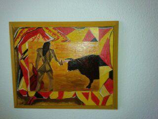 Rêve de taureau : Huile sur toile : Lulla Bell