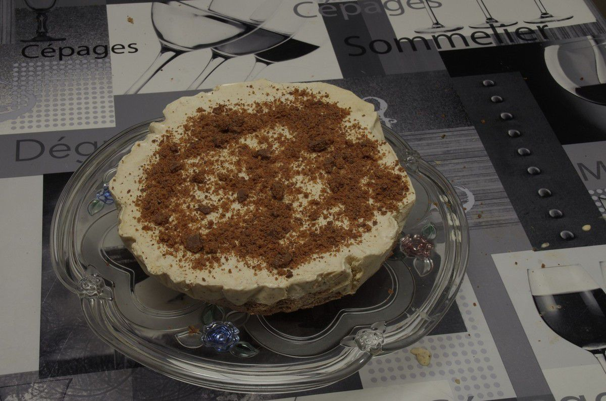 Gâteau aux Daim glacé