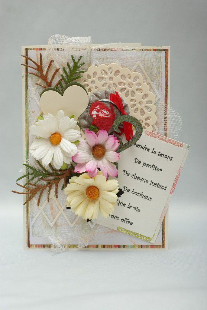 Love Shabby Chic et mes cartes