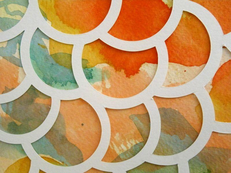 Superpositions, aquarelle et papier découpé