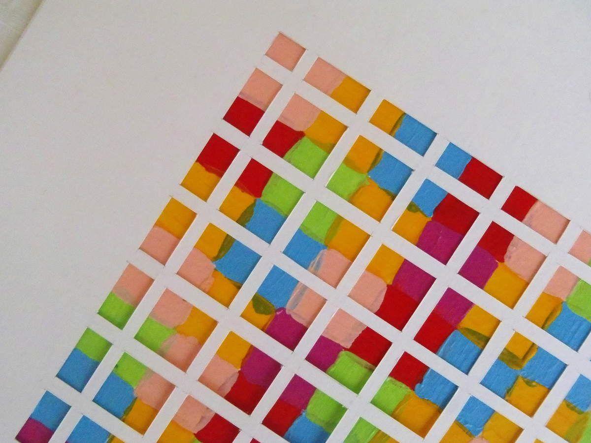 Superpositions - Acrylique et papier découpé