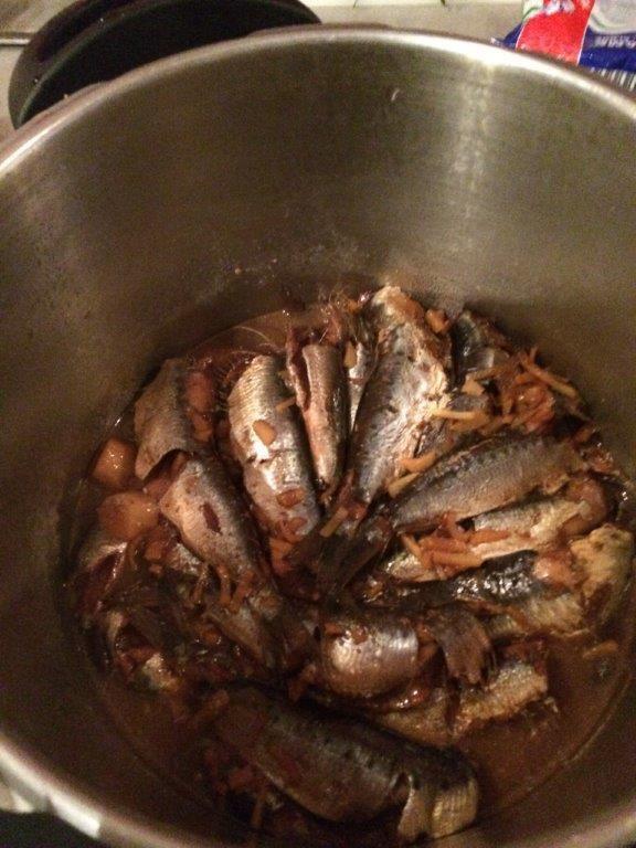 Préférant le boeuf, je n'ai pas pris de photo du donburi (grand bol) aux sardines une fois monté mais je rappelle que le poisson est tout simplement servit sur le riz comme le boeuf !