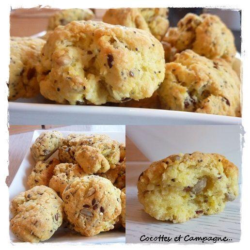Cookies apéro Parmesan et Graines