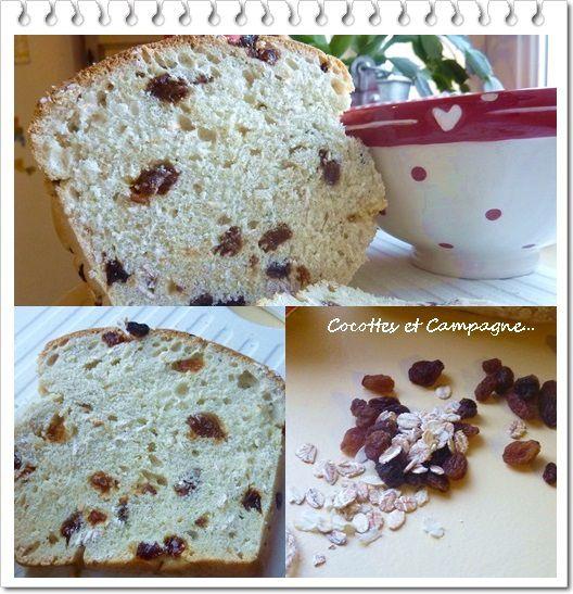 Pain Gourmand aux Raisins &amp&#x3B; Flocons 5 Céréales bio