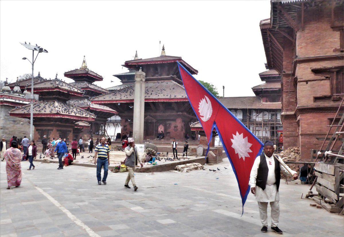 Ce qui reste du secteur de la Colonne du roi Pratap Malla après les séismes de 2015