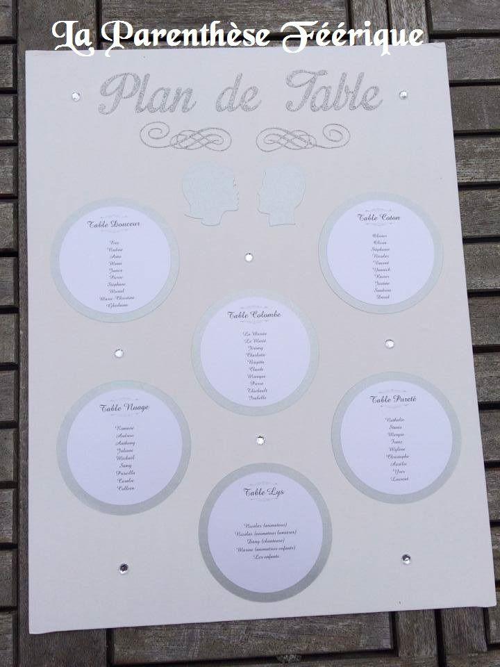 Plan de tables fait à la demande en fonction de votre thème et de vos couleurs