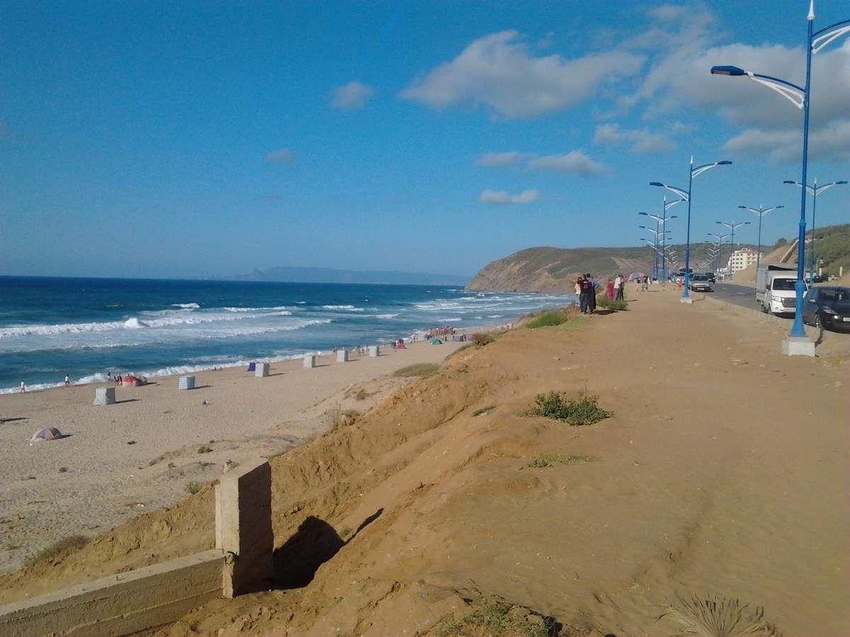 L'une des conséquences directes de l'entassement du sable rouge, la disparition des plantes sur le talus qui poussaient sur le sable blanc.