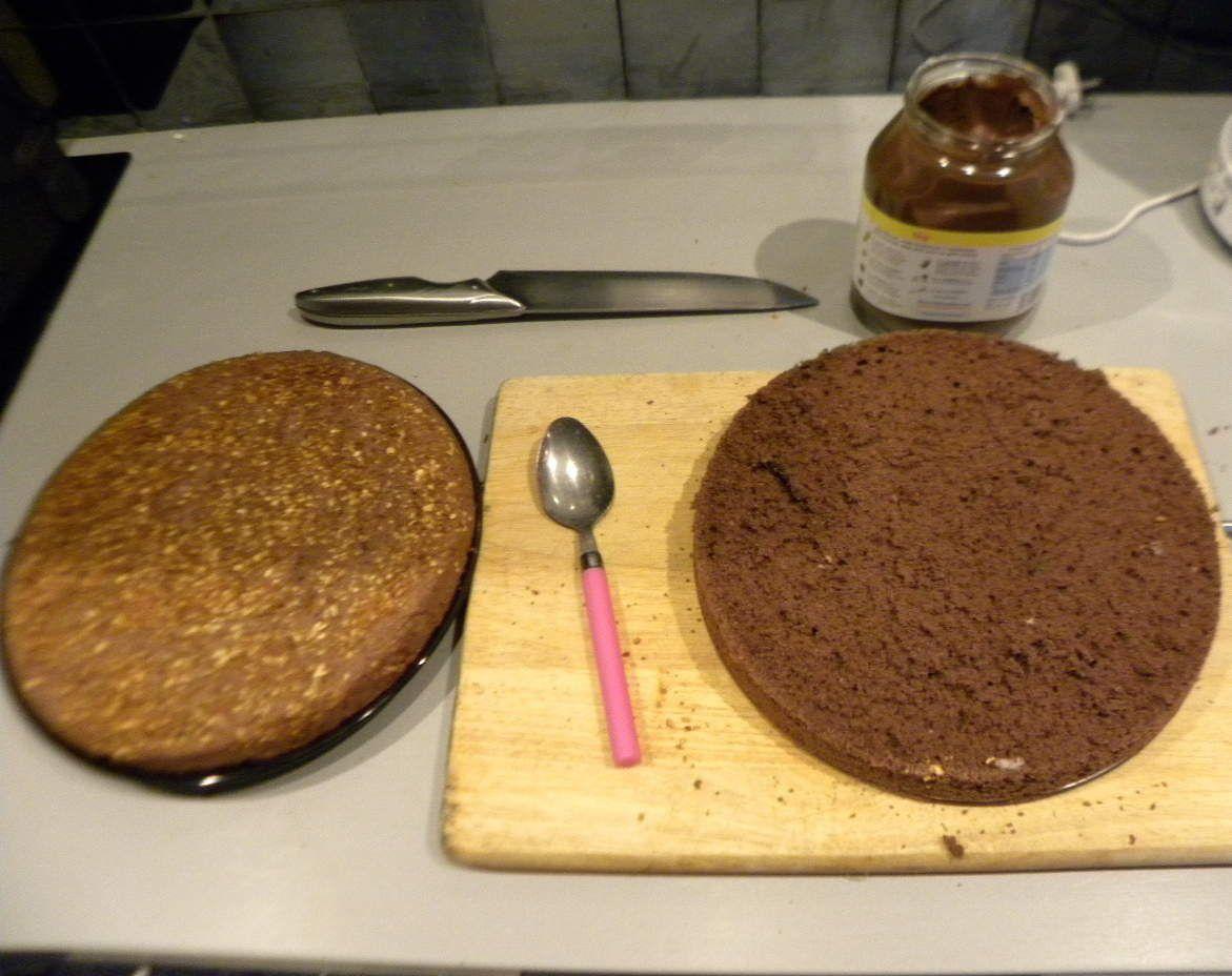 Génoise choco nutella (sans gluten)