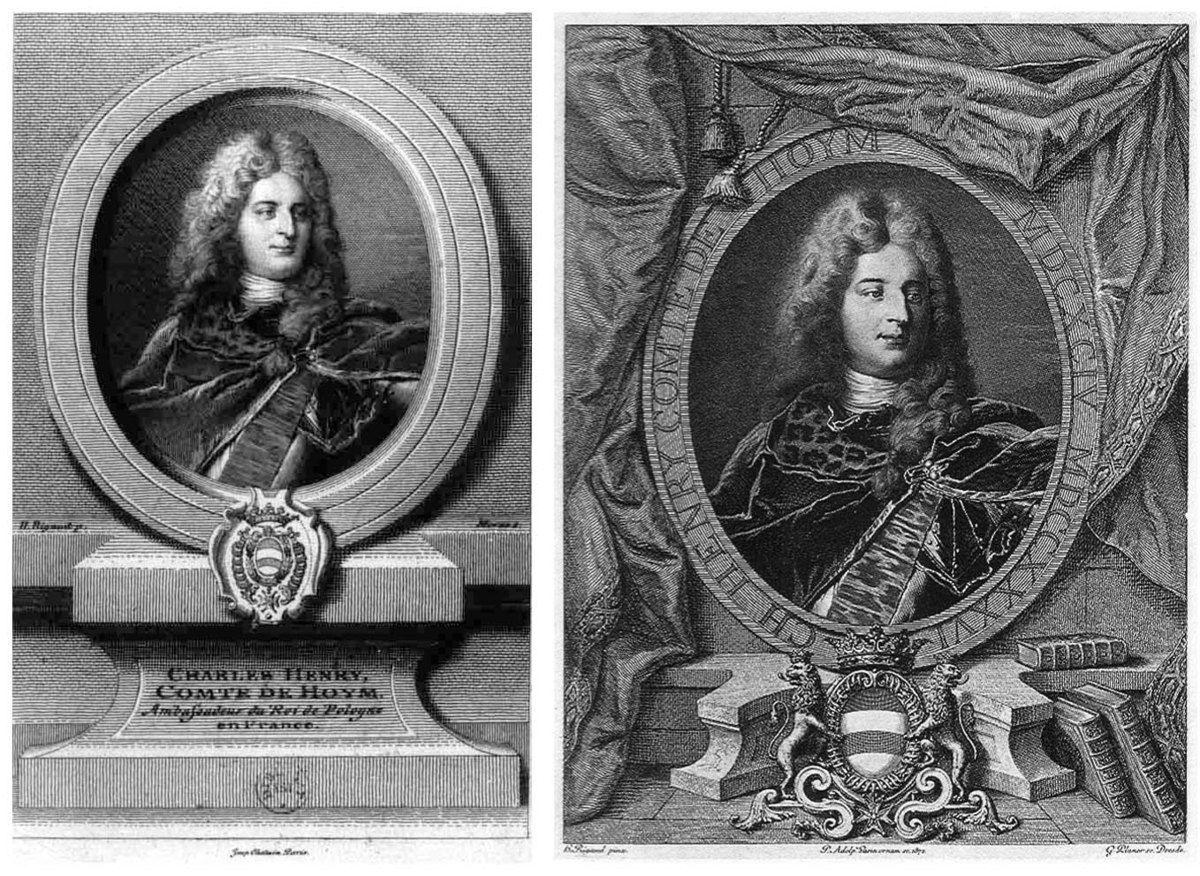 A. Morse et G. Planer d'après Rigaud, portrait du comte de Hoym, coll. priv. © d.r.
