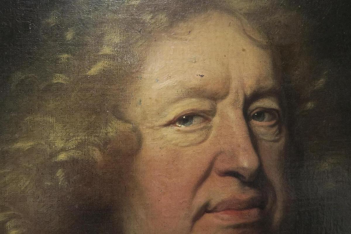Hyacinthe Rigaud, portrait d'Everhard Jabach, 1688 (détail). Coll. part. © photo CP, d.r.