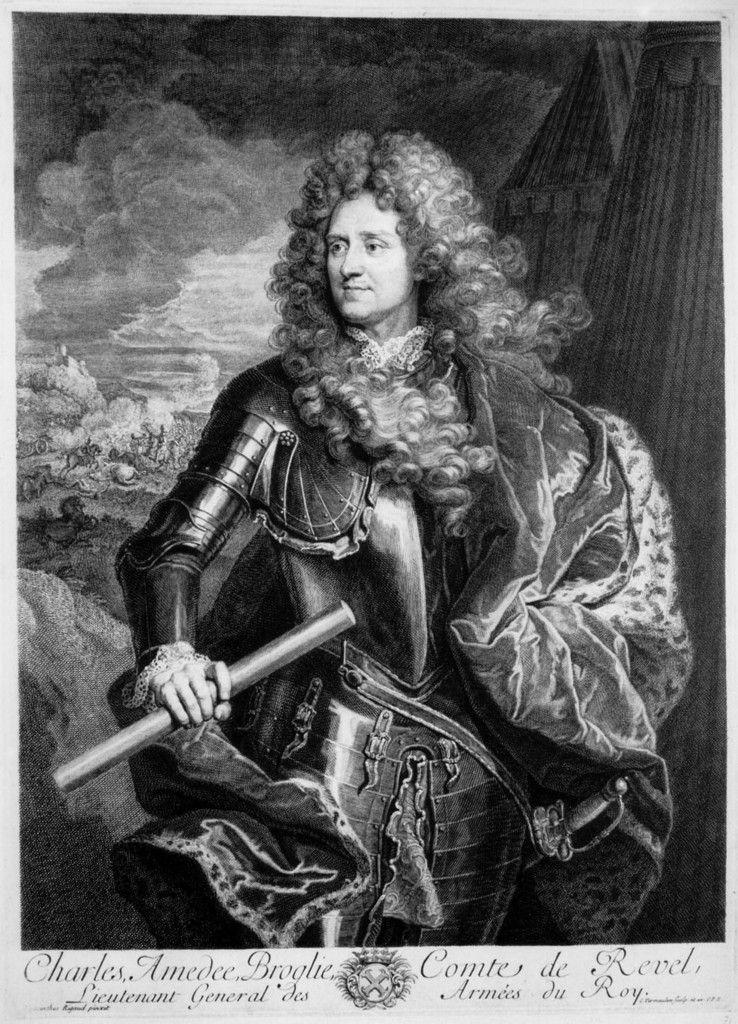 Cornelis Vermeulen d'après Rigaud, portrait du comte de Revel, 1695. Collection privée © photo S. Perreau