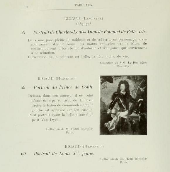 Extrait du catalogue de l'exposition de Bruxelles en 1904 © d.r.