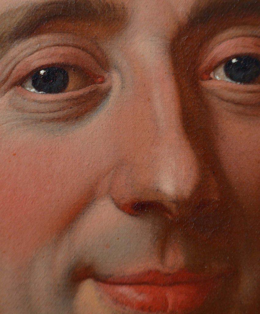 Atelier d'Hyacinthe Rigaud, portrait d'homme, v. 1717 (détail) © photo Stéphan Perreau