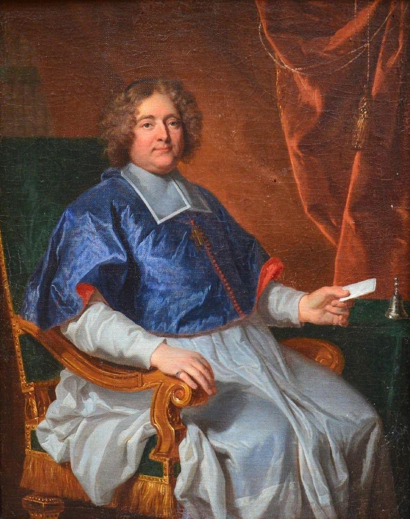 Atelier d'Hyacinthe Rigaud, portrait dit de l'évêque de Saint Papoul. Coll. priv. © d.r.
