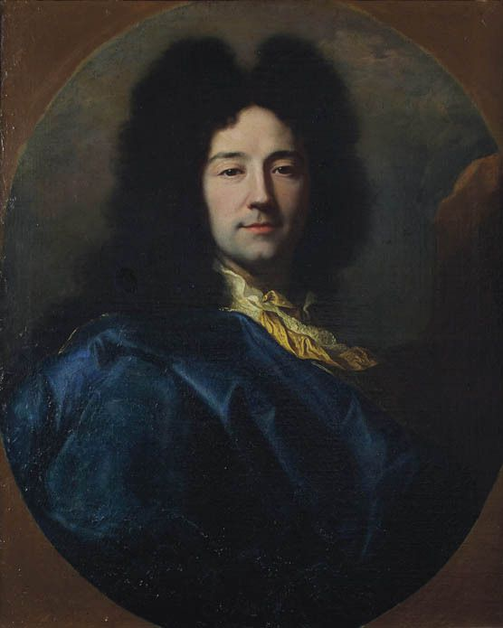 Autoportrait d'Hyacinthe Rigaud dit « au manteau bleu », 1696. Perpignan, collection privée © Christie's images LTD