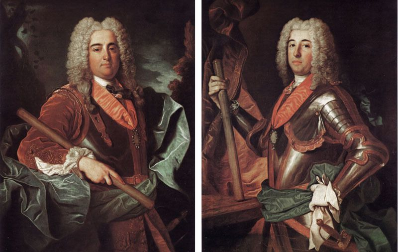 Jean Ranc, portraits des infants Dom Francisco et Don Antonio de Portugal, 1729, Palais royal de Madrid © service de presse