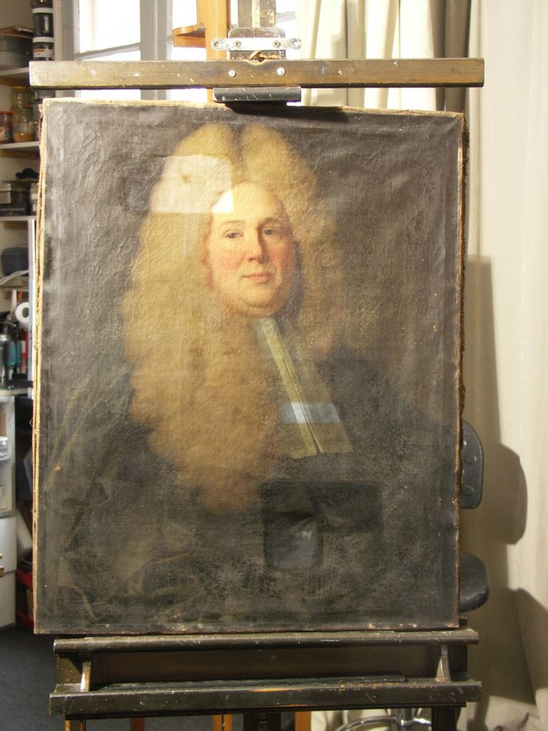 Jean Ranc, portrait de Jan Olivier, 1715 (avant restauration). Collection privée © photo Stéphan Perreau