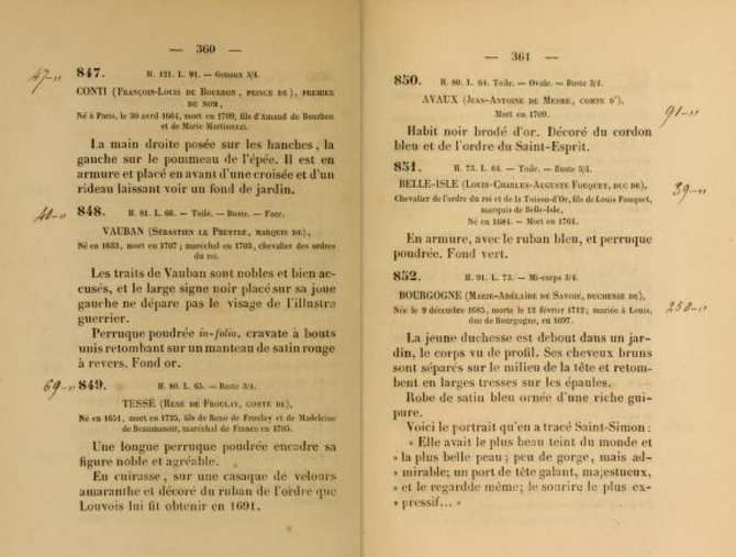 Catalogue de la vente Despinoy, 1850.