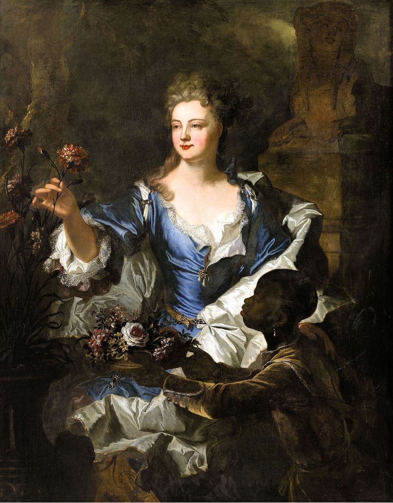 Atelier d'Hyacinthe Rigaud, portrait de Madame Legendre, 1701. Coll. priv. © photo Christie's images LTD