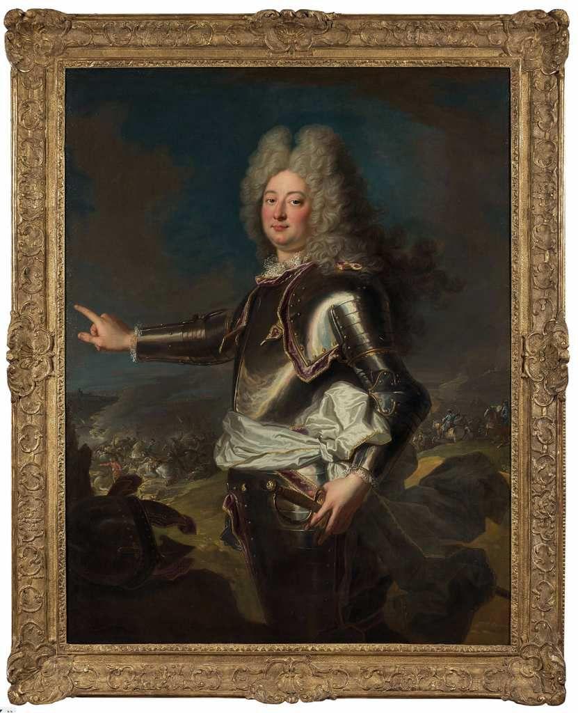 Atelier d'Hyacinthe Rigaud (?), portrait d'un officier général. Paris, commerce d'art © Artcurial